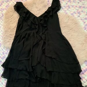 H&M sheer ruffle dress